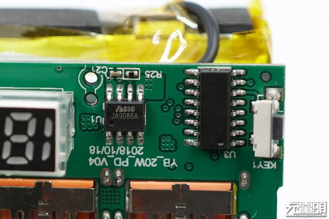 首创USB-C to Lightning快充输入:羽博20000mAh PD移动电源拆解-充电头网