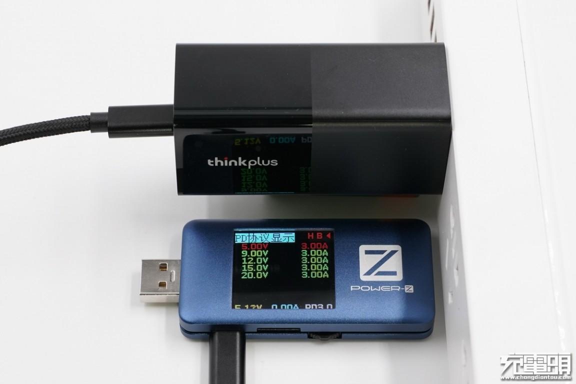 联想thinkplus USB PD充电器PA65拆解报告-充电头网