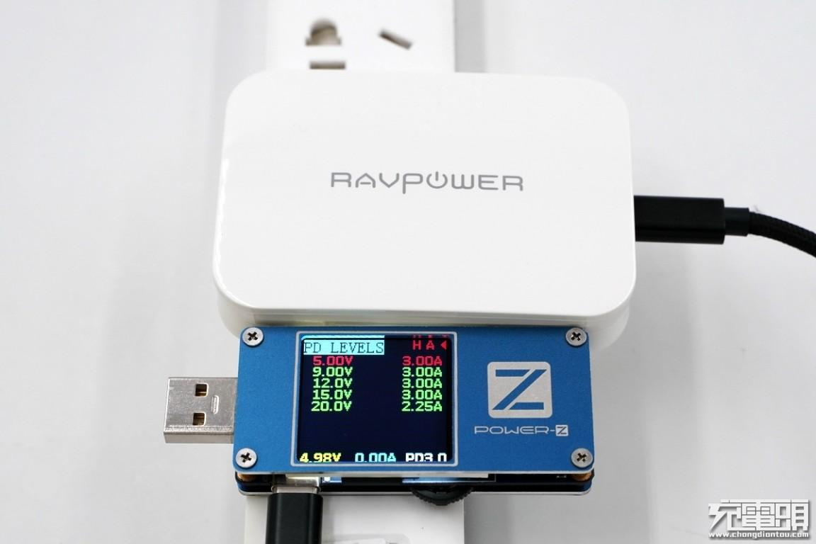 超薄体积大功率输出,RAVPower 45W GaN PD充电器上手评测-充电头网