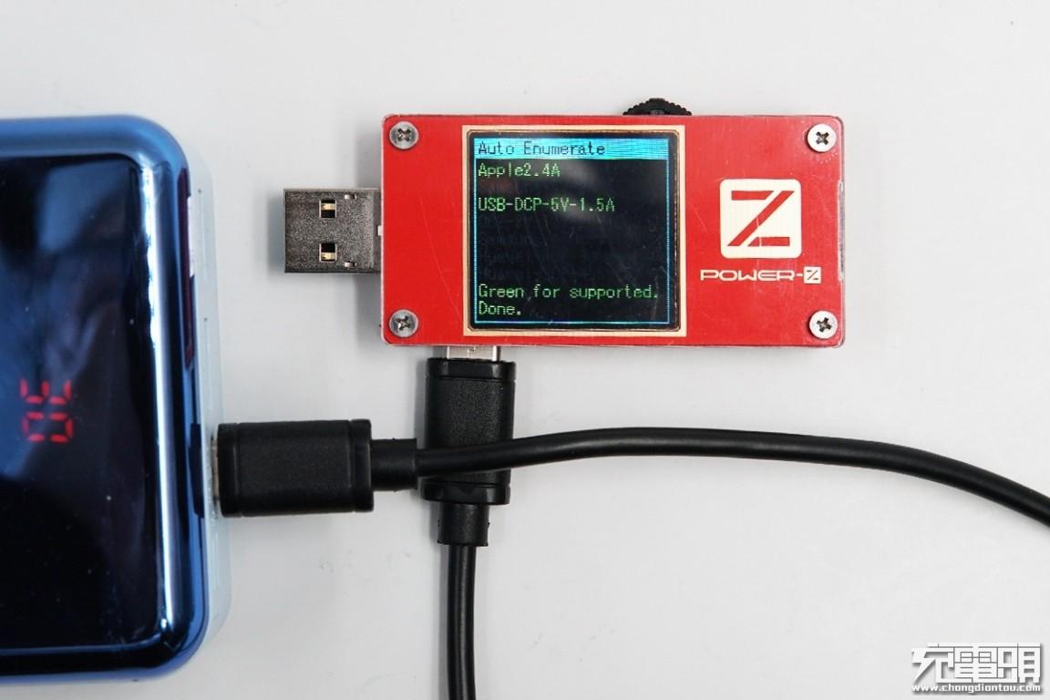 全接口快充还能登机,羽博30000mAh Lightning PD移动电源评测(30W-PD)-充电头网