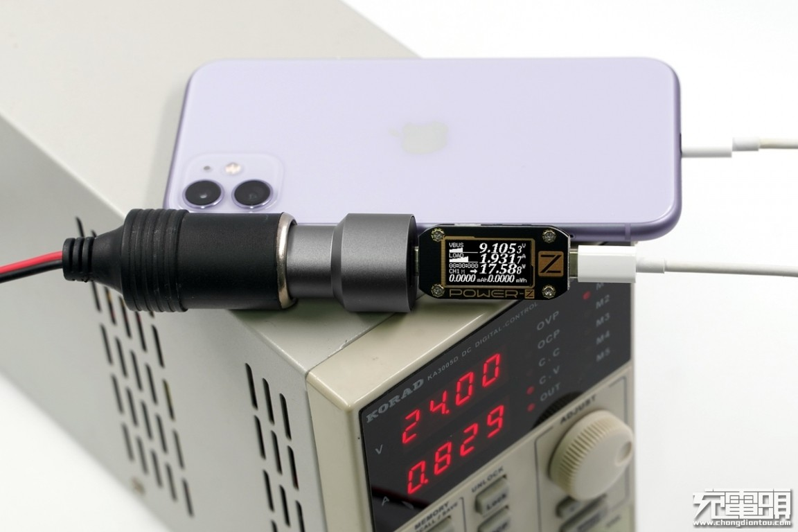 1A1C输出,mophie dual USB car charger车载充电器评测-充电头网