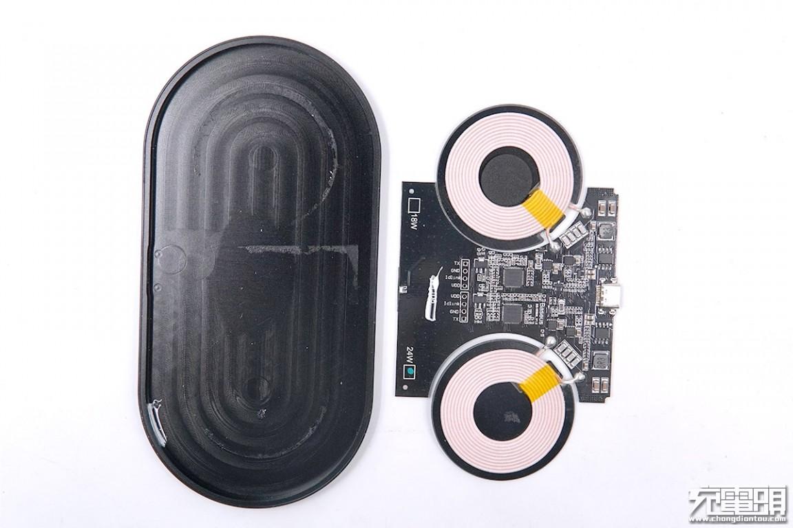 拆解报告:倍思极简二合一无线充电器(满血版)(BS-W508)-充电头网