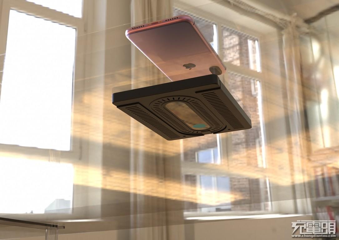 磁迹科技发布50mm远距离隔空无线充电器,支持苹果、三星快充!-充电头网