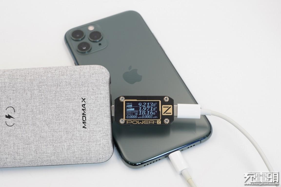 PD、SCP、PE等快充加持,苹果口快充输入,MOMAX无线充移动电源评测(IP91MFI)-充电头网