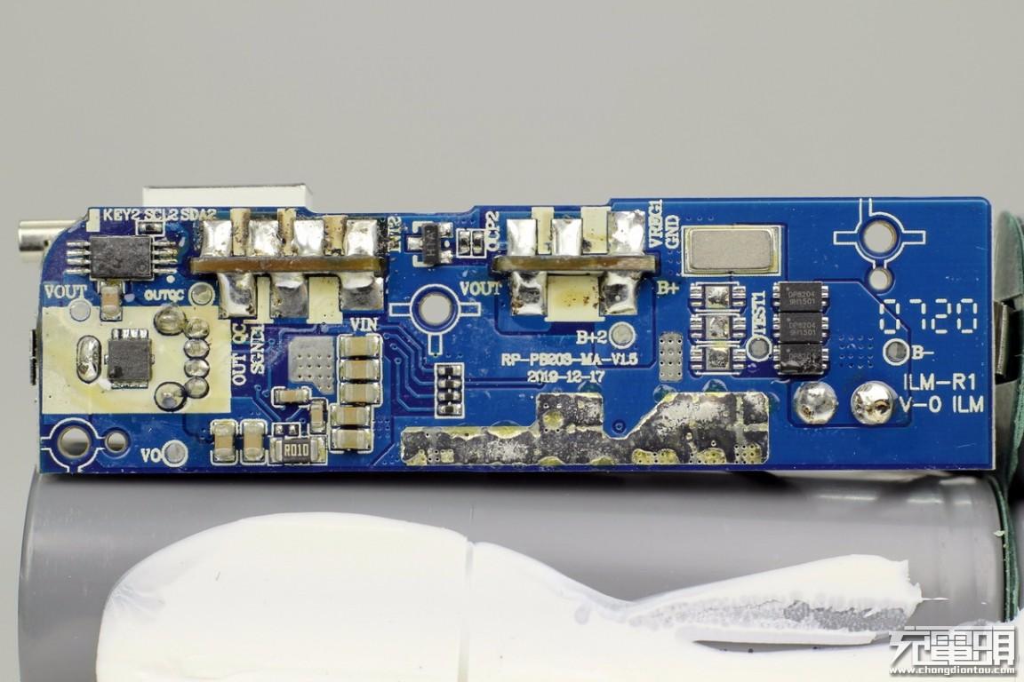 拆解报告:RAVPOWER 15000mAh 18W双向快充移动电源RP-CPBN003-充电头网