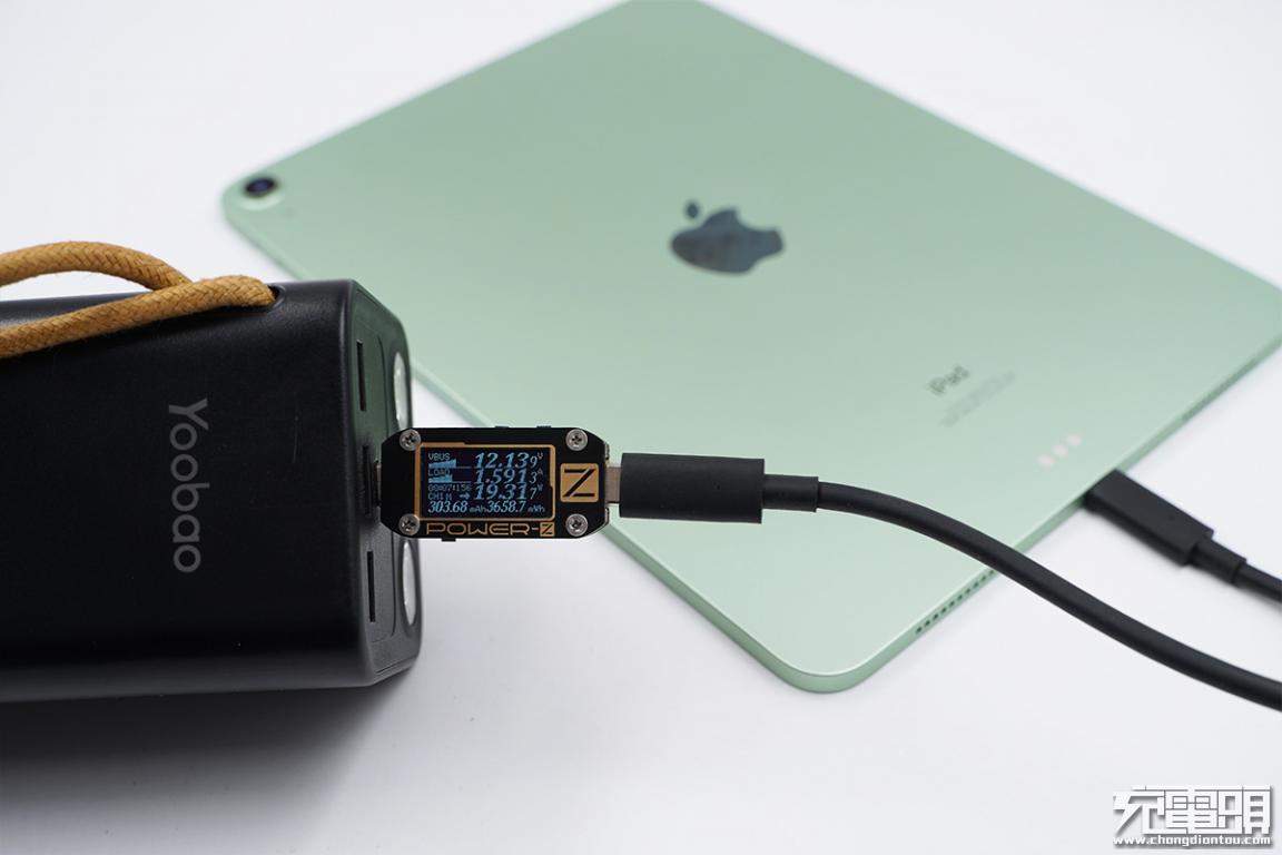 充满一次可以用一周的充电宝,羽博50000mAh双向快充充电宝评测-充电头网