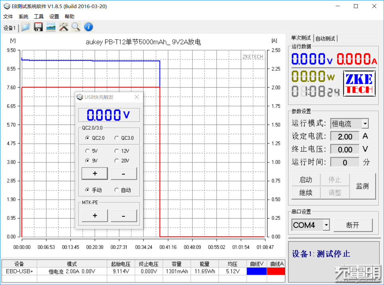aukey PB-T12单节5000mAh_ 9V2A放电_1301mAh_11.65Wh.png