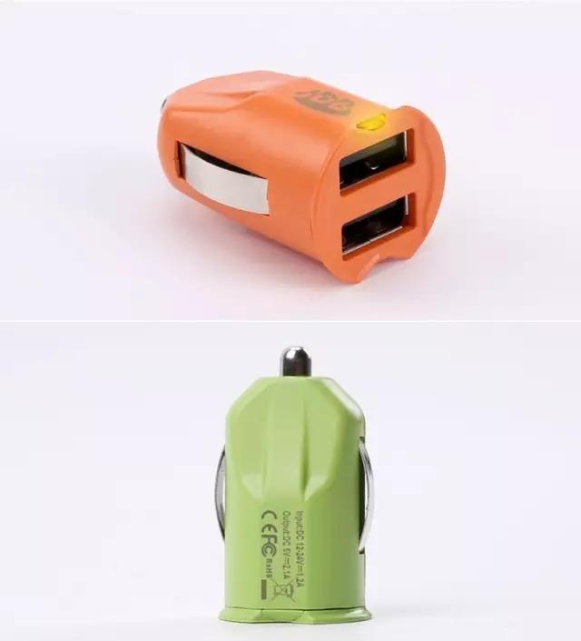 隐藏于盖,JDB隐形迷你双USB口2.1A车充团购-充电头网