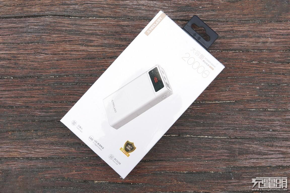 3输入3输出带屏显 台电T200A 20000mAh移动电源体验-充电头网